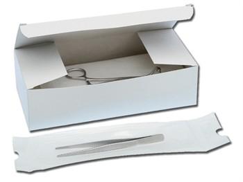 PINZA ANATOMICA IN METALLO - 14 cm - monouso sterile