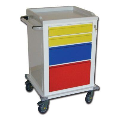 CARRELLO MODULARE - verniciato - 2 + 1 + 1 cassetti