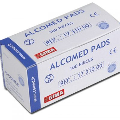 ALCOMED ALCOHOL PADS - cartone 10000 pz. (100 cf. da 100 pz.)