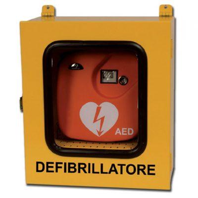 ARMADIETTO PER DEFIBRILLATORI - uso esterno con allarme