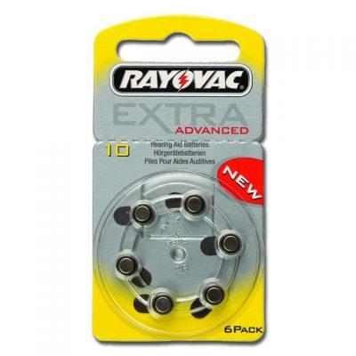 BATTERIE ACUSTICA RAYOVAC 10 - senza mercurio (blister 6 pz)
