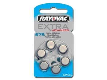BATTERIE ACUSTICA RAYOVAC 675 - senza mercurio (blister 6 pz)