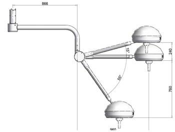 LAMPADA SCIALITICA MONOFARO - da soffitto