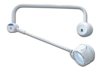 LAMPADA SCIALITICA TRE FARI - su piantana con gruppo batteria e caricatore automatic