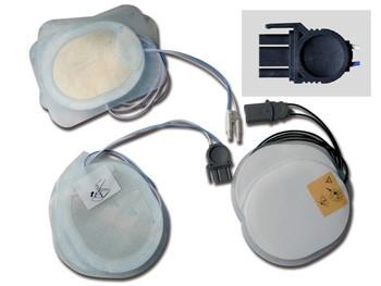 PLACCHE COMPATIBILI - per defibrillatori MEDTRONIC/OSANTU/BEXEN - un paio