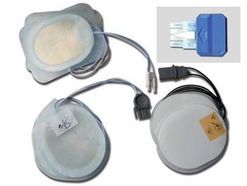 PLACCHE COMPATIBILI - per defibrillatori ESAOTE/SHILLER - un paio