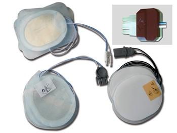 PLACCHE COMPATIBILI - per defibrillatori DRAGER/INNOMED/S&W/WELCH ALLYN - un paio