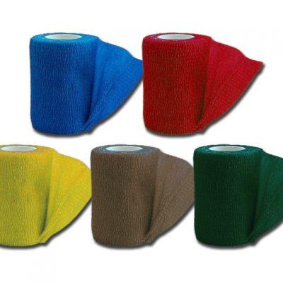 COHESIVE NON WOVEN ELASTIC BANDAGE - 4.5 m x 7.5 cm - 5 colours - conf. 10 pz.