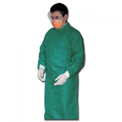 CAMICE CHIRURGICO MONOUSO - non sterile - verde