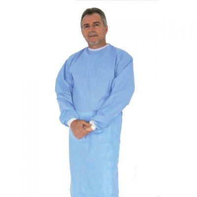 CAMICE CHIRURGICO MONOUSO - azzurro - sterile - L