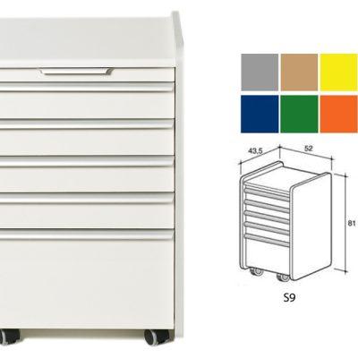 CASSETTIERA S9 - colore a richiesta (grigio beige giallo blu verde arancione)